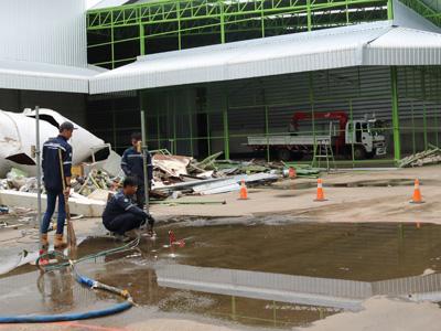 ซ่อมพื้นเป็นแอ่ง แก้น้ำขัง