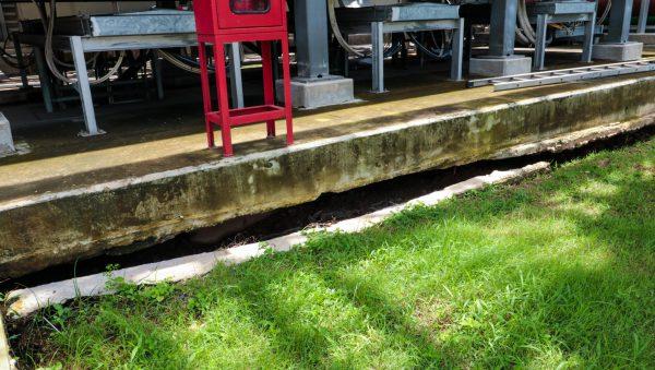 พื้นคอนกรีตทรุดตัวจนเป็นโพรงใต้พื้นคอนกรีต